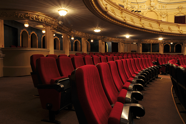 Red seats in a theater