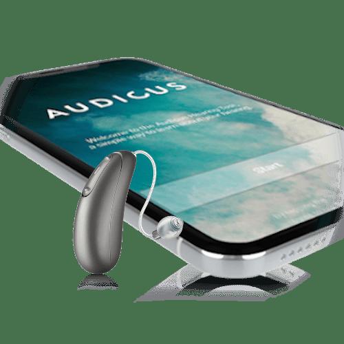 Audicus Wave grey-battery