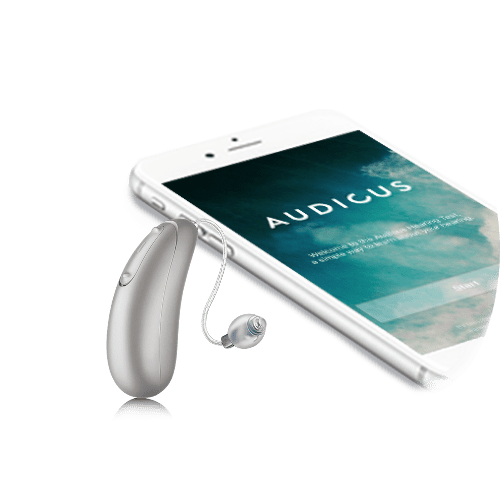 spirit silver hearing aid and iphone