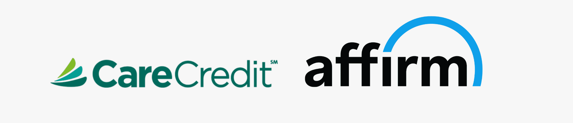 Care Credit and Affirm Logos