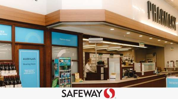 Our clinic is located by the pharmacy in Safeway - here is a picture